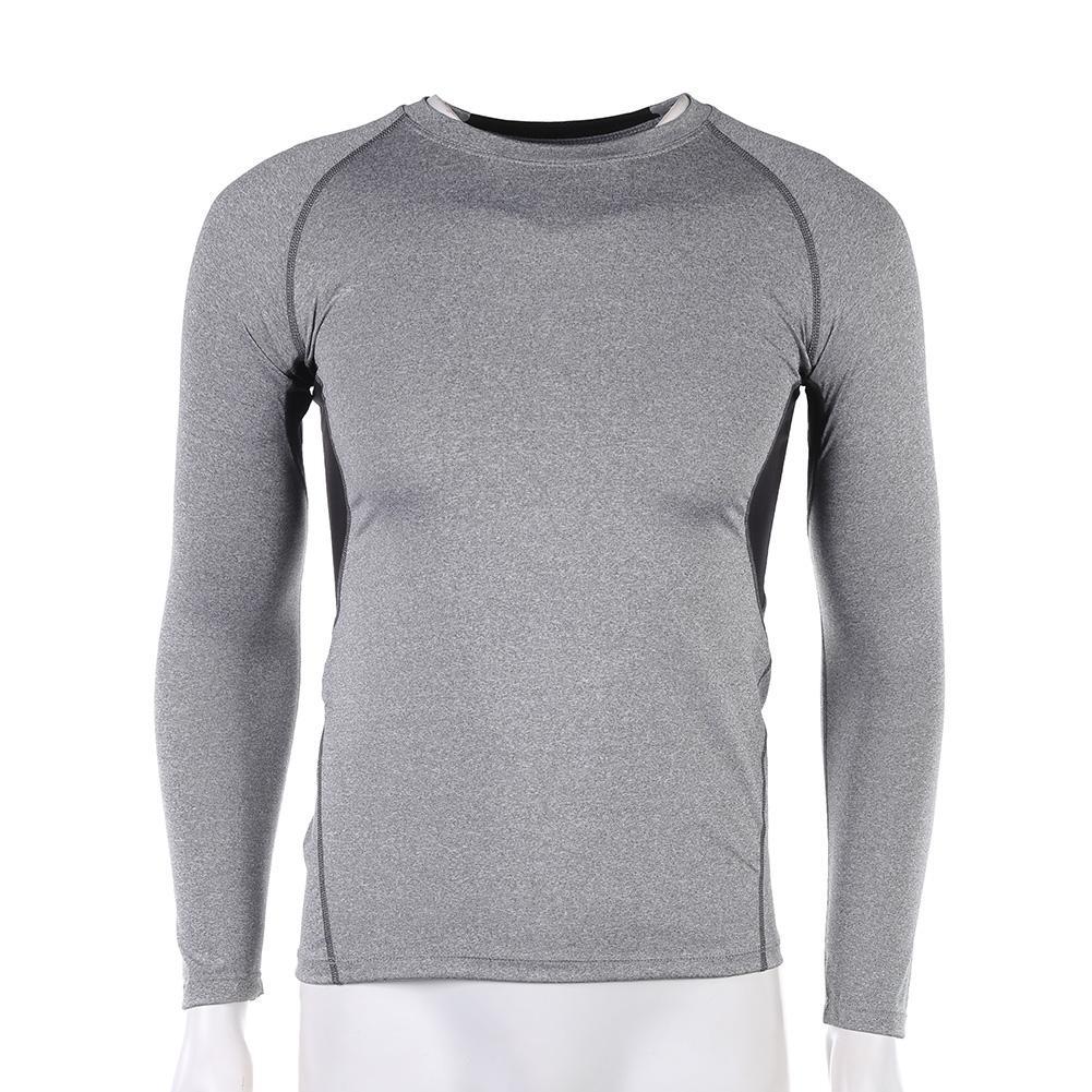 67c2b680da4d3 Men Elastic Compression Tights Clothes Long Sleeve Breathable T-shirt