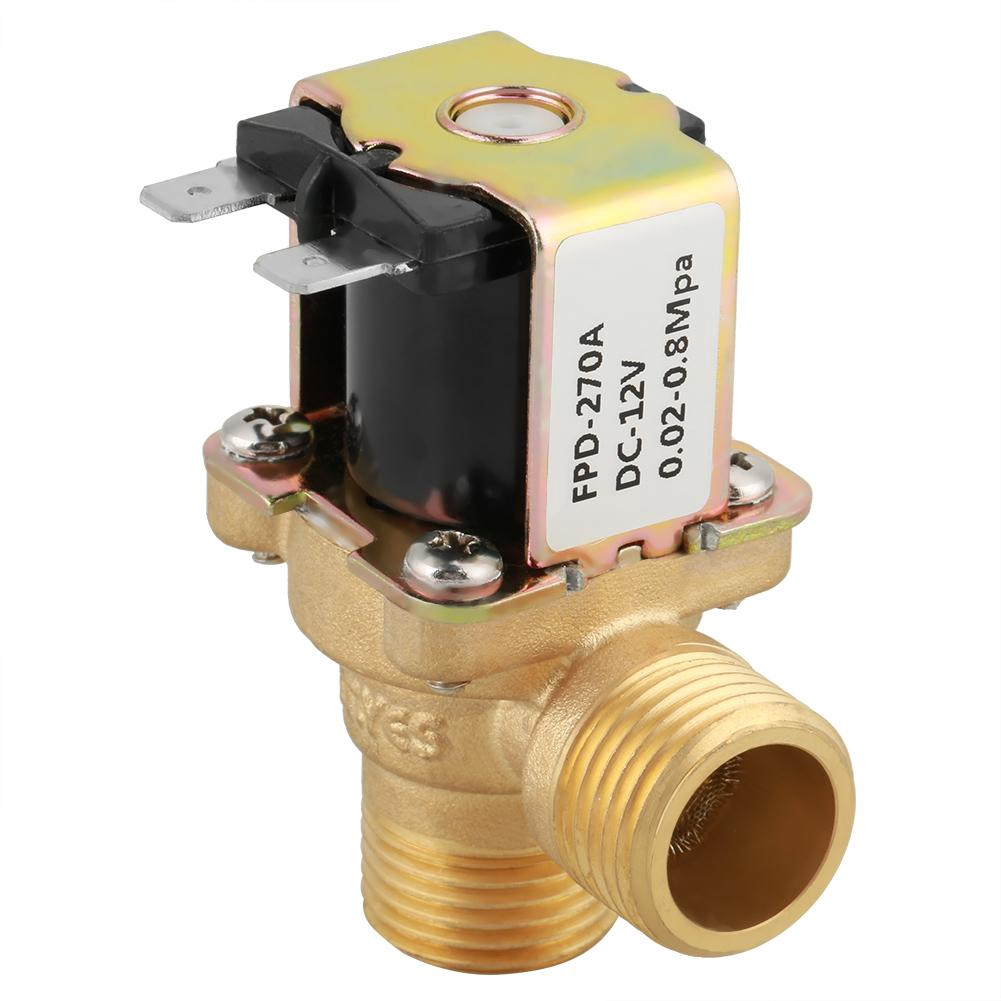 DN15 G1//2 Normal Closed Pilot-operated Water Inlet Electric Solenoid Valve DC12V