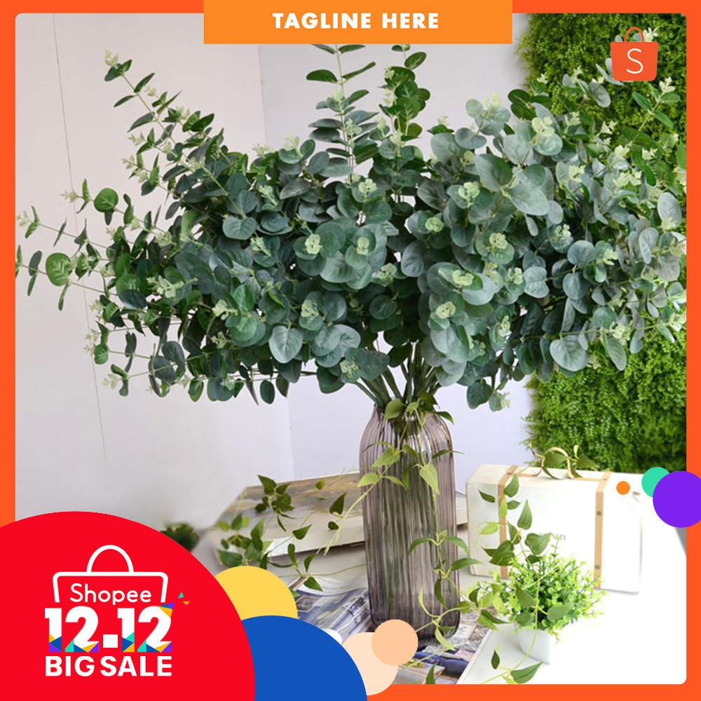 Large Artificial Eucalyptus Sprays set of 2 for ornament display /& bouquets 91cm