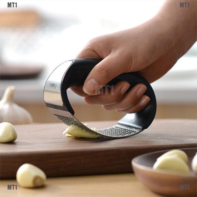 Stainless Steel Manual Garlic Press Crusher Squeezer Tools Masher Kitchen Kits
