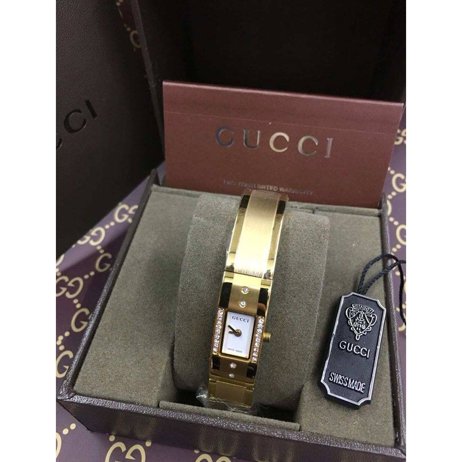4ab2ee5516d Gucci MG-2200L Gold Dial Gold Plated Stainless Steel Watch