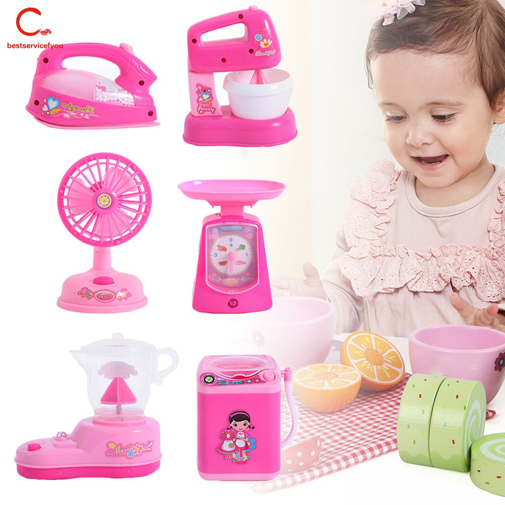 Kids Electronic Pretend Role Play Washing Machine Set Toy Playset Childrens Gift
