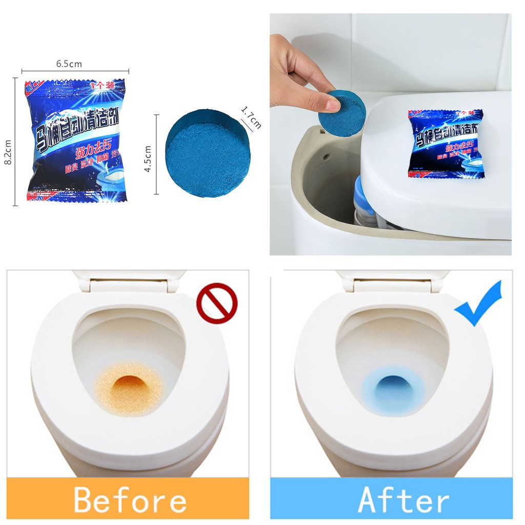 30 Pc Blue Tablet Toilet Bowl Cleaner TS