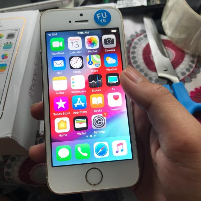 Refurbished apple iphone 5s 16gb, space gray unlocked gsm.