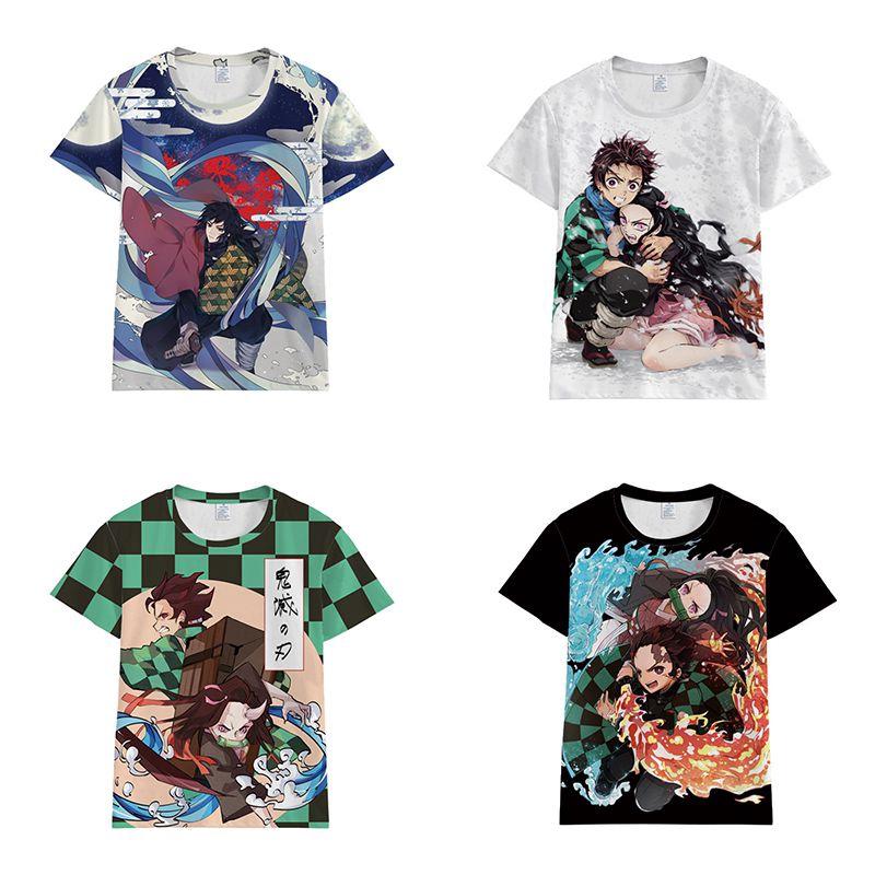 Tanjiro Kamado Demon Slayer Kimetsu no Yaiba Anime Men//Women Unisex Long Sleeve T-Shirt