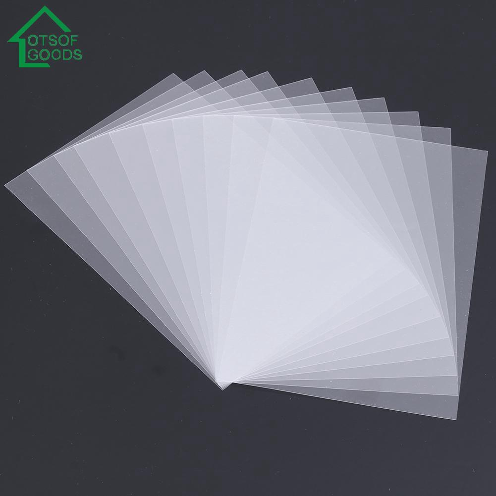 50pcs Pvc Plastic Sheet Diy Scrapbook Handmade Shake Card
