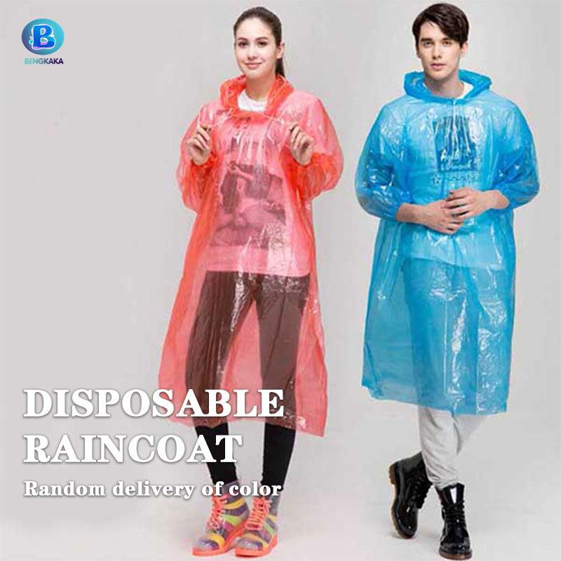 picked up laest technology world-wide selection of Disposable Poncho Rain Coat Hood Adult Colorful Unisex Rain Gear Mantle