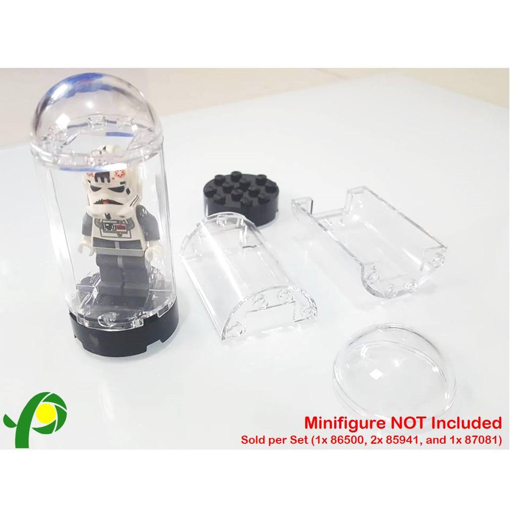 New LEGO Translucent Clear 2x4x5 Half Cylinder Piece with 1x2 Cutout