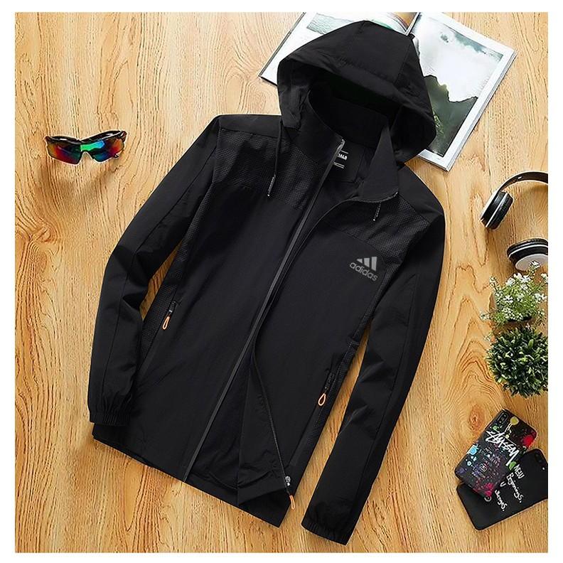 adidas hooded jacket sport windbreaker jacket