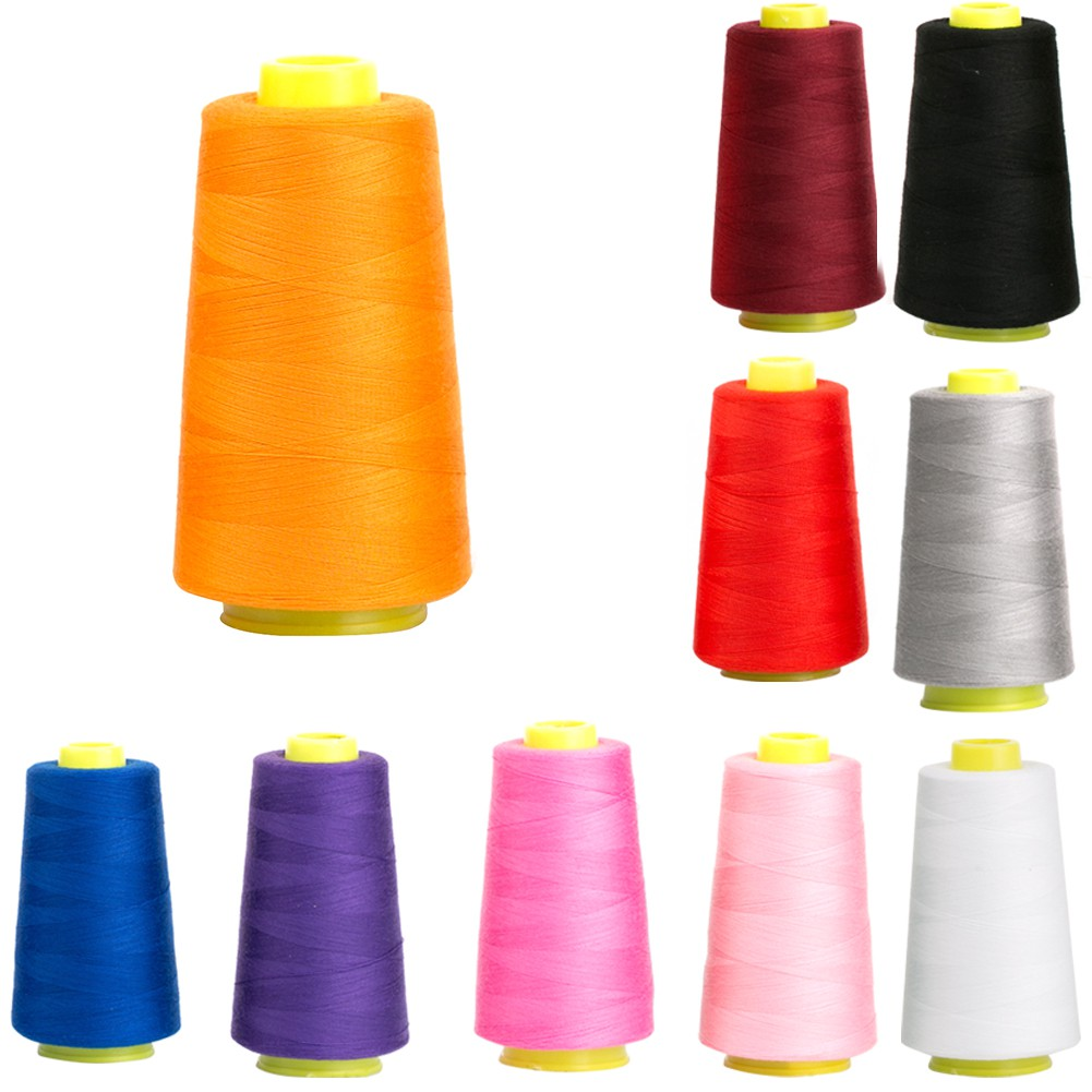 Colorful Spool of Polyester Sewing Thread for Sewing Machine 3000 Yards