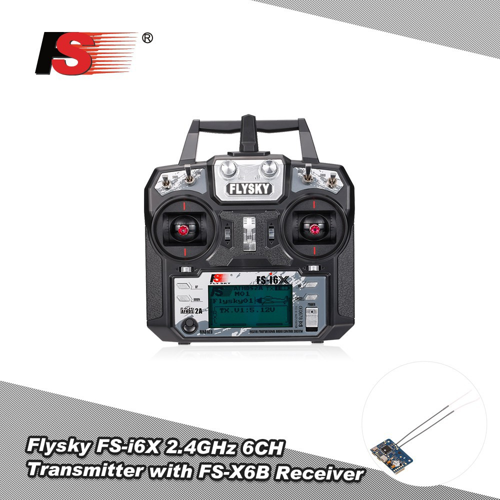 Flysky FS-i6X 2 4GHz 6CH AFHDS 2A RC Transmitter Remote Controller with  FS-X6B