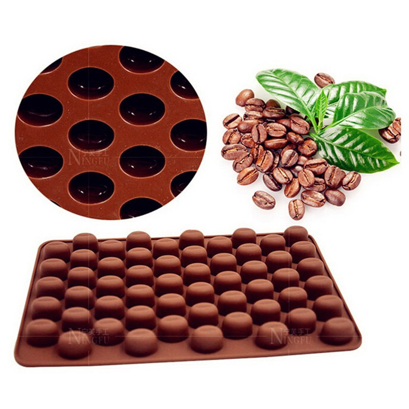Coffee Bean Candy Sweet Chocolate Silicone Mould Sugar paste Icing Cake Baking