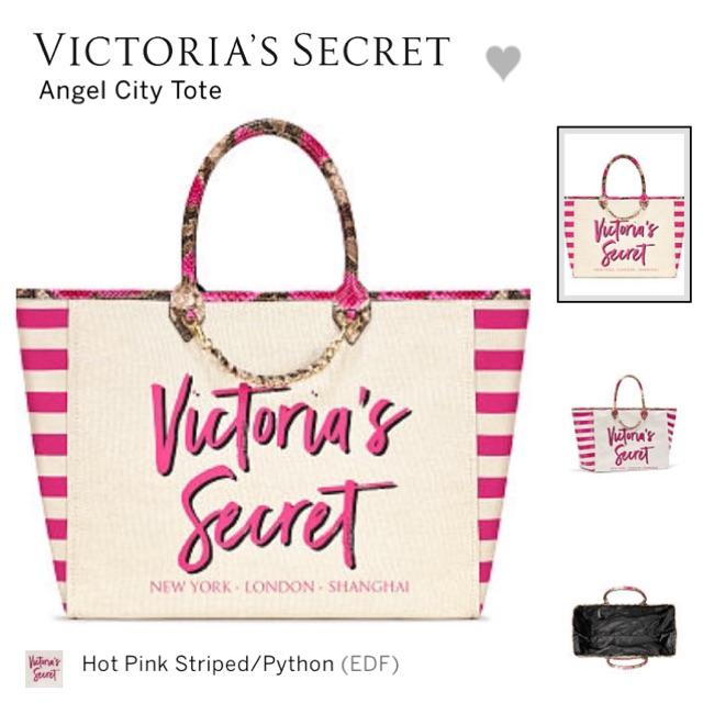 f0e25e48f Victoria's Secret Angel City Tote Bag Light Pink/Shanghai | Shopee  Philippines