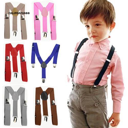 Cute Baby Boys Girl Clip on Suspender Y Back Child Kid Elastic Braces Bow Tie UK