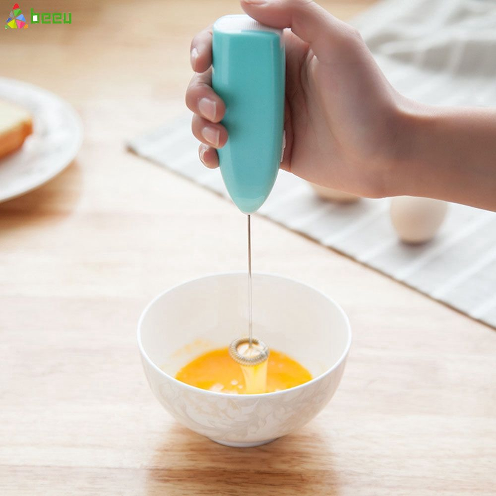 Electric Milk Whisk Frother Mini Handheld Egg Beater Mixer Foamer Stirrer Whisk for Coffee Milk Drink Kitchen Tool