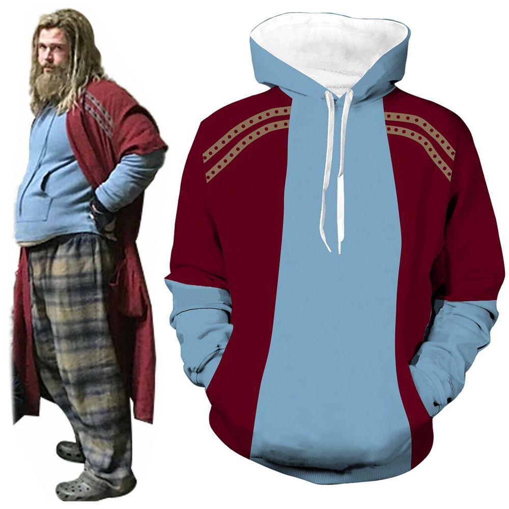 Avengers 4 Endgame Captain America Hoodie Cosplay Sweatshirt Printed Pullover