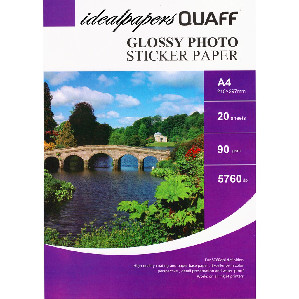 Glossy Photo Sticker Paper Shopee Philippines