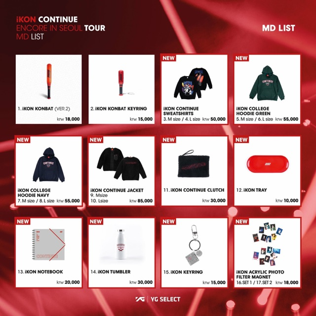 iKON 2018 Concert Tour Official Merchandise
