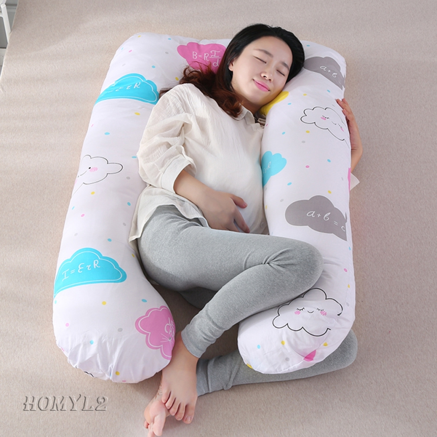 BOLSTER PILLOW AND COVER MATERNITY PREGNANCY NURSING BABY BODY SUPPORT CUSHION