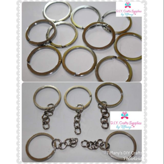 Flat Key ring and Keychain ring (25mm & 30mm)