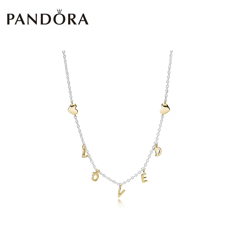 2efbd4b50 PANDORA SHINE LOVED SCRIPT COLLIER NECKLACE 925 silver love | Shopee  Philippines