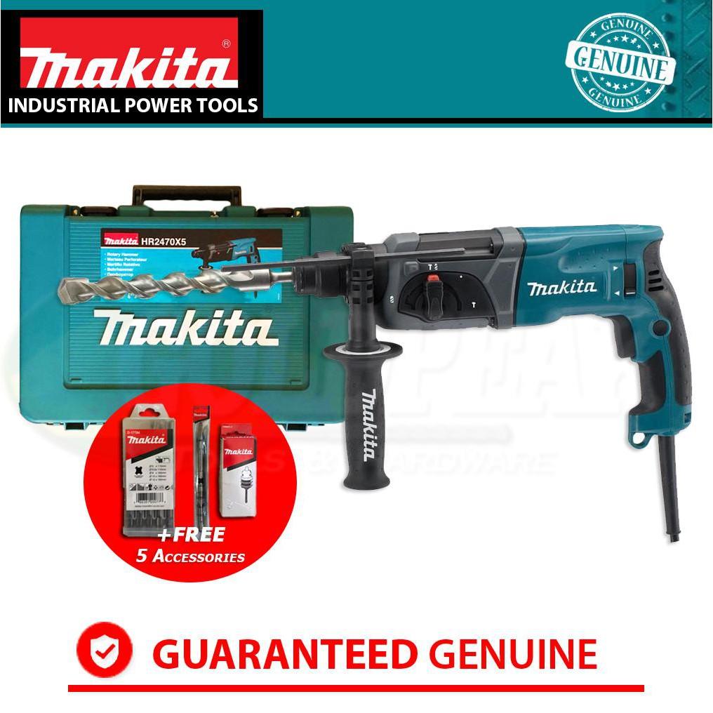 Makita HR2470X5 3-Modes SDS Plus Rotary Hammer