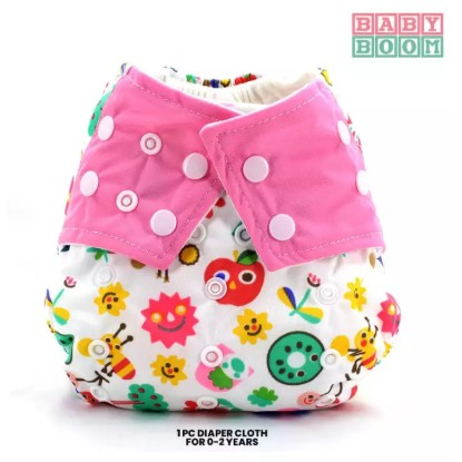 Baby Boom Washable Cloth Diaper Cover No Insert - Fruity