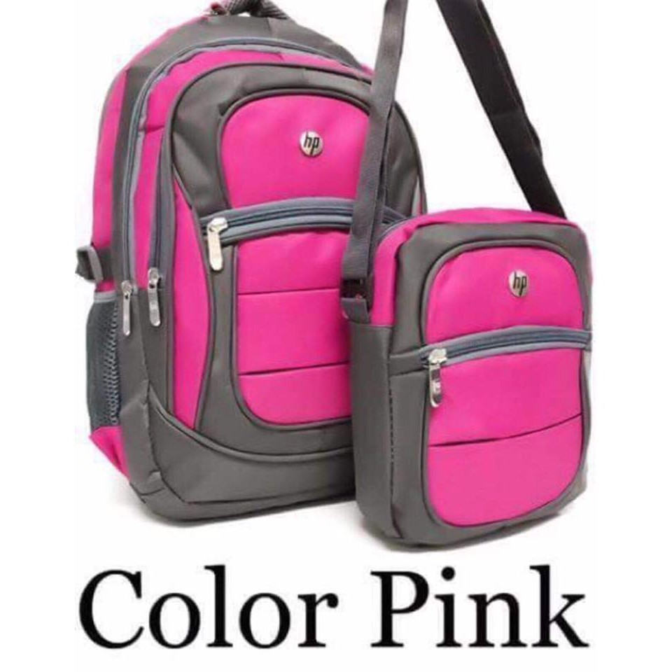 Cod Hp Laptop Backpack Bag Pink Shopee Philippines