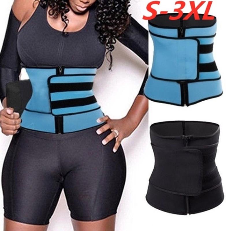 Waist Trainer Trimmer Belt Body Shaper Wrap Neoprene Black Color S M L XL XXL