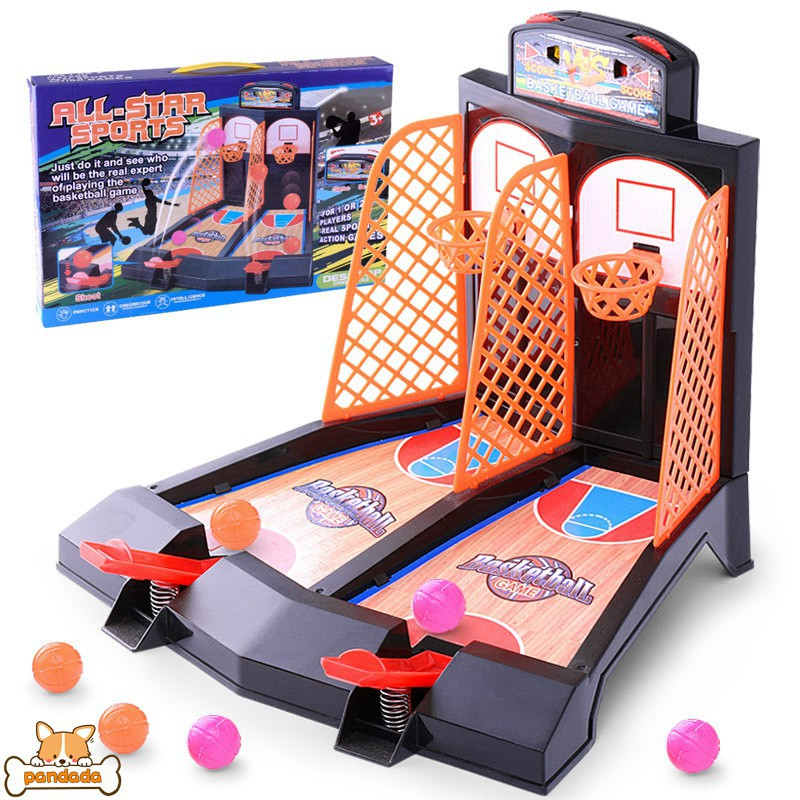 Children Funny Board Game Basketball Table Game Finger Shooting Basketball  Toy