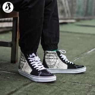 vans official authentic sk8hi black and white hightop