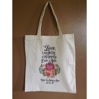 Personalized Natural Cotton Tote Bags With Velcro Corporate Giveaways