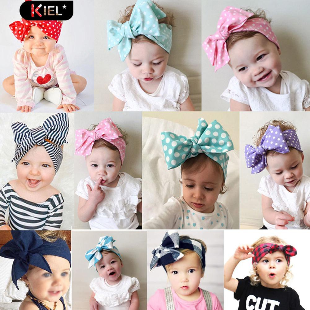 Baby Toddler Girls Kids Infant 2 Star Cotton Soft Headband Hairwear Hairband