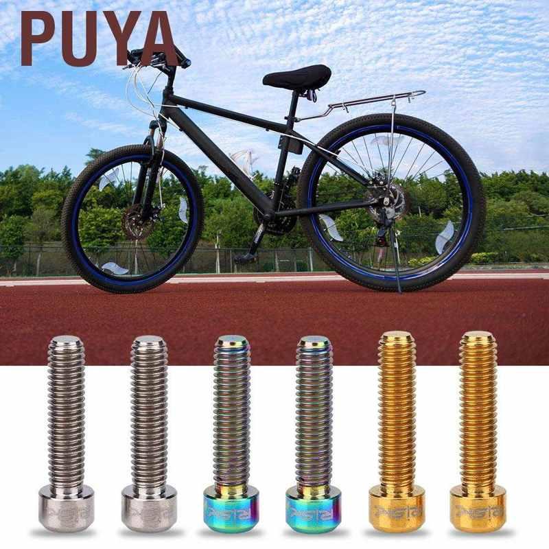 4PCS TC4 Titanium Alloy Bolts Screws for MTB Bicycle Crank Disc Brake Caliper