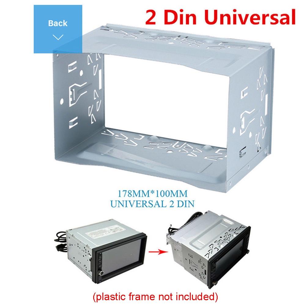 Universal Din 2 Din 100mm Double Autoradio Stéréo Fascia Cage Kit De Montage