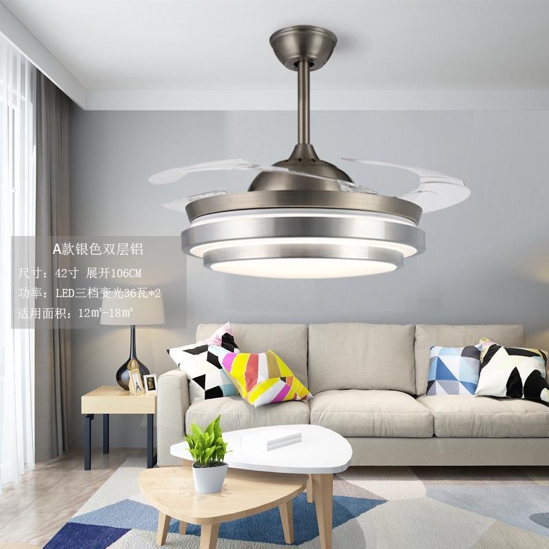 Light Dimming Fan Chandelier Modern