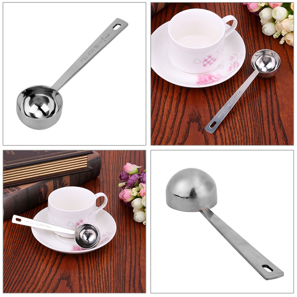 Kitchen Coffee Scoop Stainless Steel Tablespoon Measuring Coffee Spoon D