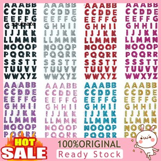 1Sheet Glitter Alphabet Letter Stickers Self Adhesive ABC A-Z Words Stick On Art