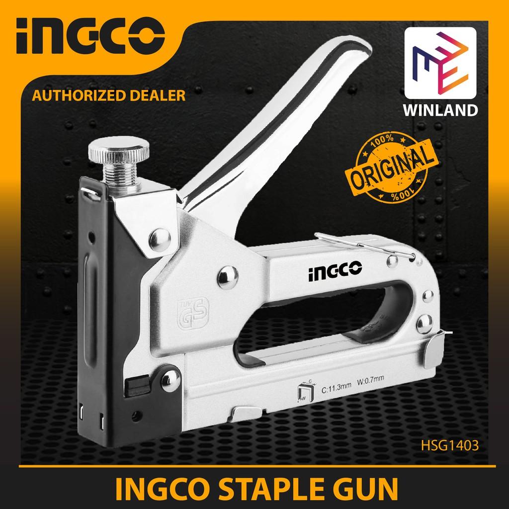 Ingco Original Industrial Grade Gun Tacker Staple Gun HSG1403 | Shopee Philippines