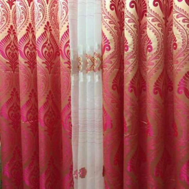 Curtain (Brocade fabric) | Shopee Philippines
