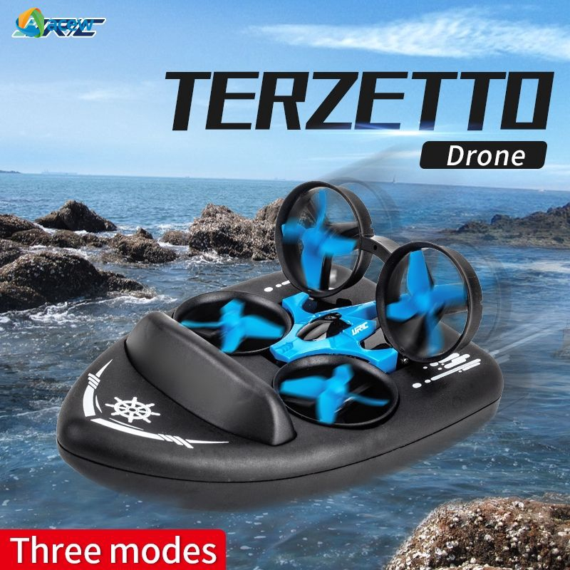 Aw❤ JJRC H36F TERZETTO 3 in 1 Mini Drone 3-Mode Air Water Ground Mode  Altitude Hold Headless Mode