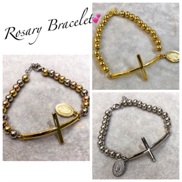 COD! Rosary bracelet stainless mahal na araw best gift