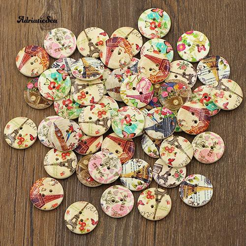 Flower Shape Acrylic Stone sewing for 10mm Button 60pcs