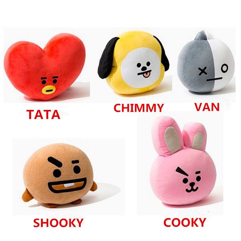 BT21 Plushies BTS TATA CHIMMY SHOOKY COOKY Kpop V SUGA JIMIN JUNGKOOK Dolls Pillow Unofficial ...