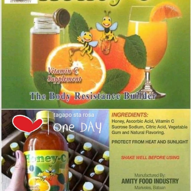 HoNEY - C Vitamins (Pure HONEY, Citrus and Oregano)