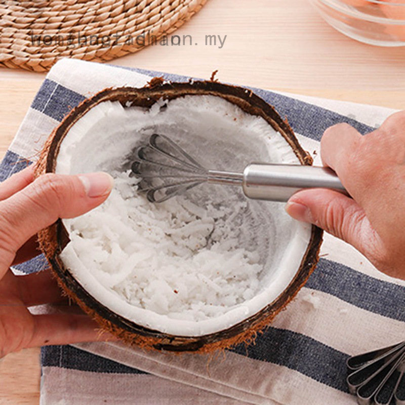 INSEET Stainless Steel Coconut Planer Digging Coconut Grater Scraping Coconut Meat Household Fish Scale Planer with Handle