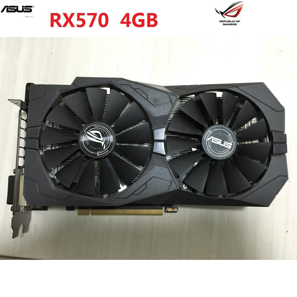 ASUS Trix-RX570-O4G-Game Video Card GDDR5 RX570 Game Console