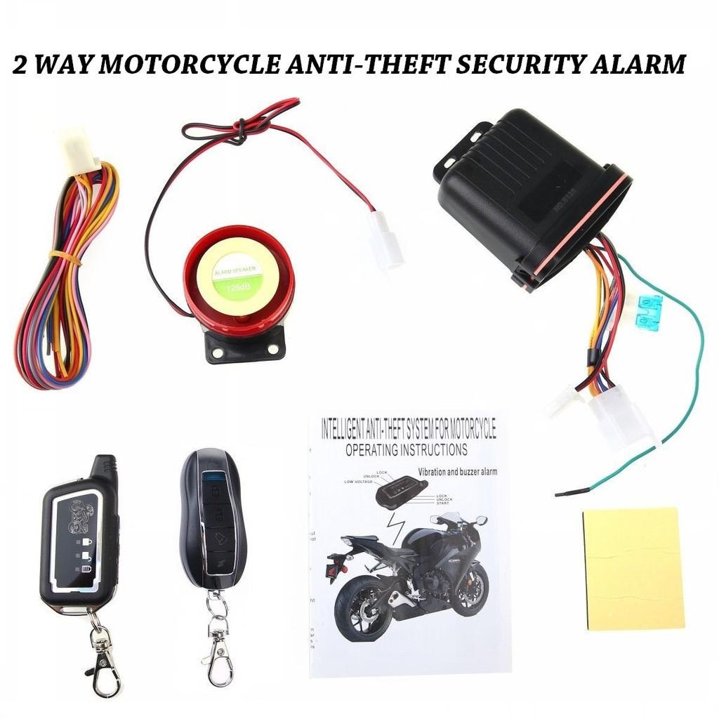 2 Way Motorcycle Security ALARM Remote Vition Sensor Venom Car Alarm System Wiring Diagram on
