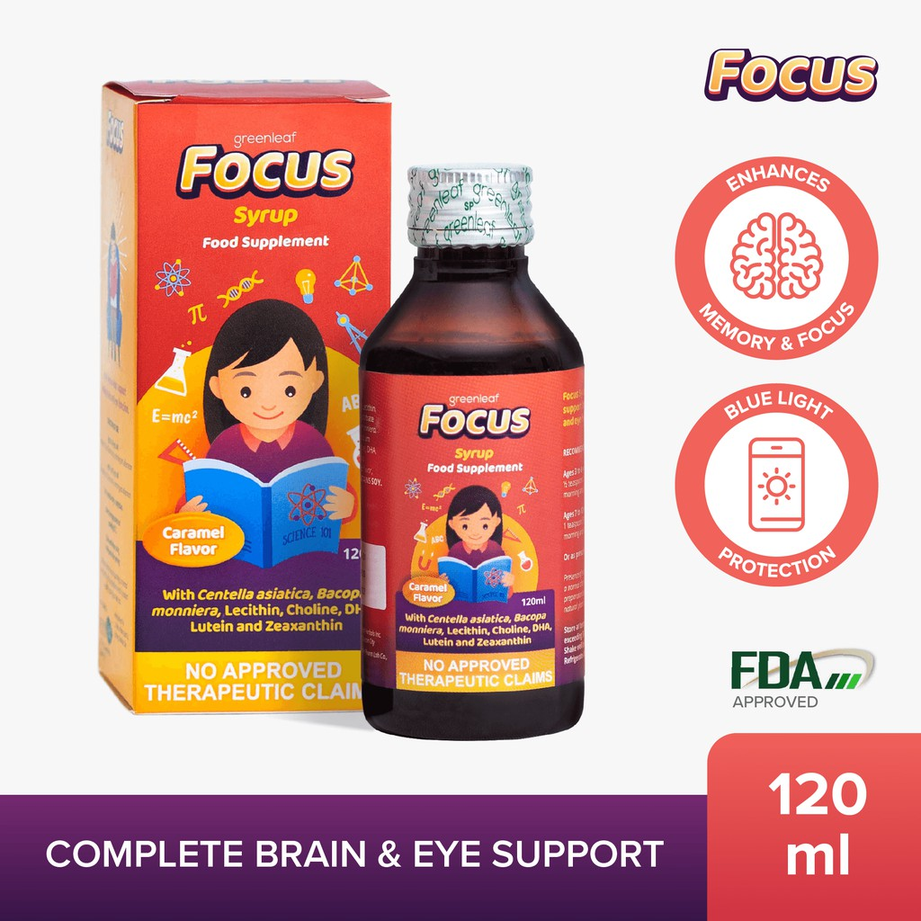 Focus Syrup Brain Eye Supplement For Kids 120ml Shopee Philippines