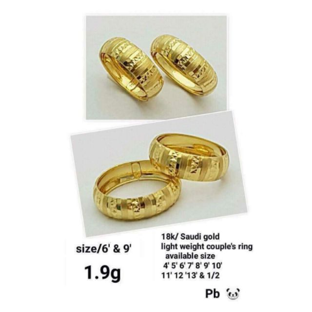 Jz118023 Cod 18k Saudi Gold Wedding Rings Bestseller